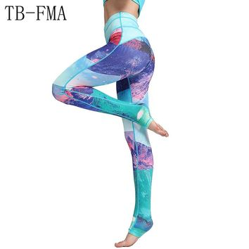 Compression Yoga Leggings Sports Pants Yoga Women sports clothing trousers Fitness yoga Compression Sport Tights Yoga Sportswear gym clothes