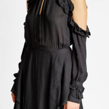 Ruffled Dress with Cut-Out Detail - Iro | WOMEN | US STYLEBOP.COM