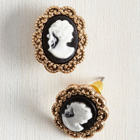 Vintage Inspired, 20s, French Antiquing Enthusiast Earrings by ModCloth