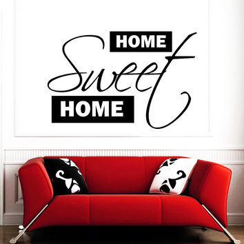 Wall Decal Quotes Home Sweet Home Art Mural Family Design Vinyl Decals Living Room Bedroom Hotel Hostel Window Stickers Home Decor 3756