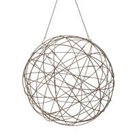 Aged Iron Wire Sphere - Large Aged Iron