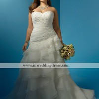 Plus Sized Wedding Dress,Custom Made Wedding Dress