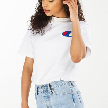 Champion Tee in Black, White, Grey and Red