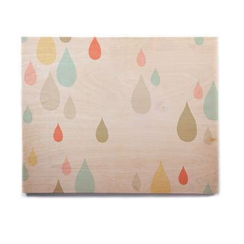 "Very Sarie ""Rainy Days"" Multicolor Rain Birchwood Wall Art"