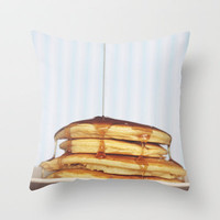Wake Up and Smell the Pancakes Throw Pillow by Beth - Paper Angels Photography