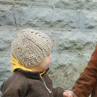 Crochet Kids Hat Pattern- Winter Beanie Child Baby Cables Girl Boy