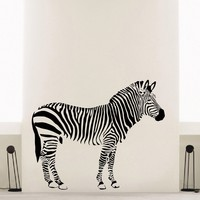 Wall Decal Vinyl Sticker Wild Animal Zebra Decor Sb454