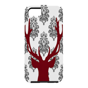 Natt Deer Damask White Cell Phone Case