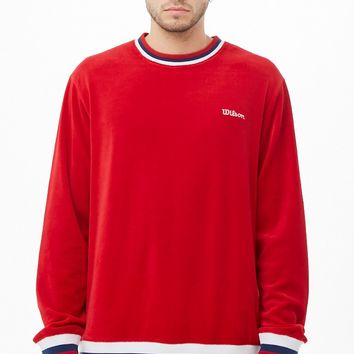 Wilson Velvet Striped-Trim Sweater