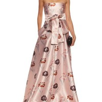 Strapless iris-print duchess-satin gown | Rochas | MATCHESFASHION.COM UK