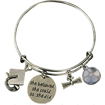Graduation Soccer She Believed She Could So She Did Bracelet