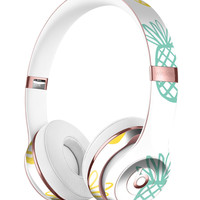 Gold and Mint Pineapple Full-Body Skin Kit for the Beats by Dre Solo 3 Wireless Headphones