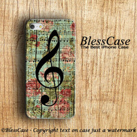 MUSIC IPHONE CASE Vintage Flower Floral on woodden Piano Note Sheet iPhone 5s Case iPhone 5c Case iPhone 5 Case iPhone 4 Case iPhone 4s Case