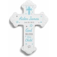 Personalized God Bless This Child Wall Cross For Boys - Walmart.com