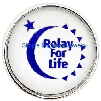 Relay For Life Snap 20mm for Snap Jewelry