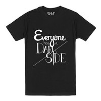 Everyone has a Dark Side-Unisex Black T-Shirt
