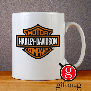 Harley Davidson Logo Ceramic Coffee Mugs