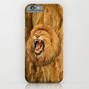 Lion Roar iPhone 4 4s 5 5c 6, pillow case, mugs and tshirt iPhone & iPod Case by Three Second