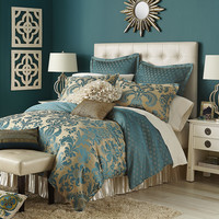 Calibri Jacquard Bedding & Duvet - Teal