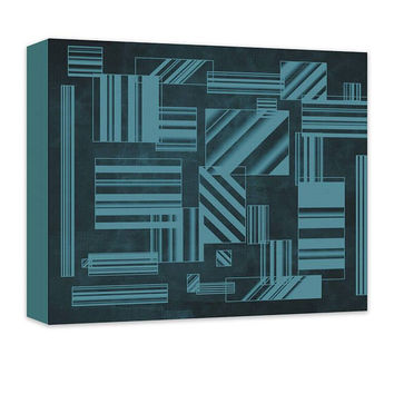Rectangles Abstract I Canvas Wall Art