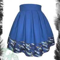 Star Trek Enterprise Skater Skirt,Trekkie, Geek