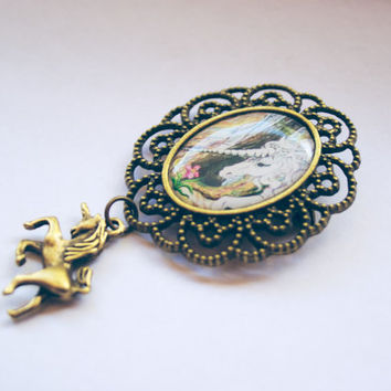 photo pendant unicorn brooch brooches and pins vintage rhinestone jewelry pin crystal antique pink unicorn