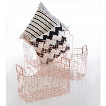 Astor Wire Baskets, Rectangle (Set of 3)