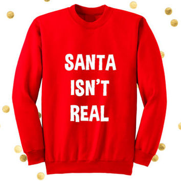 Funny Santa Christmas sweater. Funny Christmas sweater. Funny holiday sweater. Santa Christmas sweater. Ugly sweater. Christmas party shirts