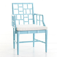 Chinese Chippendale Chair - St. Croix Turquoise