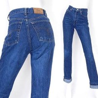 Vintage 80s High Waisted Slim Fit Polo Jeans - Size 6 - Ralph Lauren Faded Indigo Wome