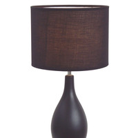 "All the Rages Ceramic Oval Base 18.11"" H Table Lamp with Drum Shade"