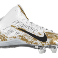 Nike Alpha Pro 3/4 D iD Custom Men's Football Cleats - Gold