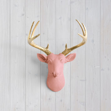 The Virginia Salmon Faux Mini Deer Head