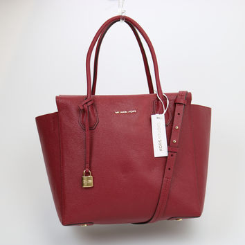Michael Kors Mercer Leather Large Satchel