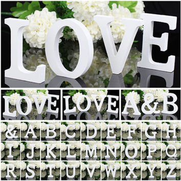 1 Wooden Wood Letter Alphabet Word Free Standing Decoration