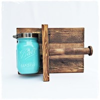 Rustic Blue Toilet Paper Holder