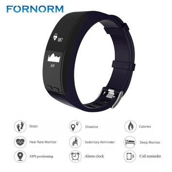 FORNORM P5 GPS Fitness Bracelet Heart Rate Monitor Smart Band Smart Wristband Watch Phone Activity Tracker For Smartphone