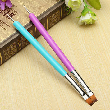 Bluelans Hot Selling New 2-Ways Nail Art Pen Painting Dotting Acrylic UV Gel Polish Brush Liners Tool 1pc