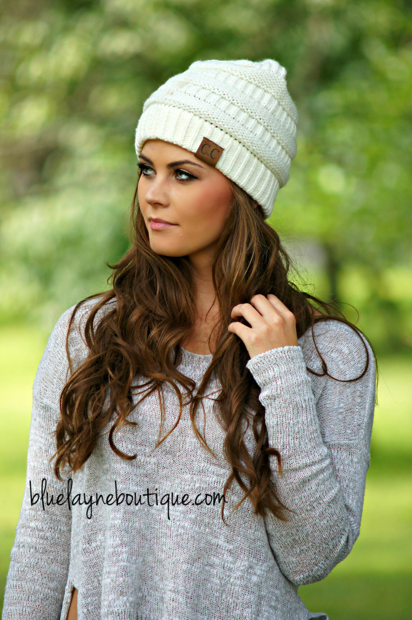 938795c165173 Slouchy CC Beanies (Ivory   other Colors) from Blue Layne