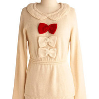 Little Bow Sweet Sweater | Mod Retro Vintage Sweaters | ModCloth.com
