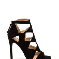 After Party Faux Suede Heels