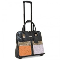 """Cabrelli 15.6"""" Women's Rolling Laptop Bag - Dome Mix & Match Rollerbrief - Laptop Bags"""
