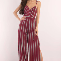 Out For The Count Stripe Jumpsuit