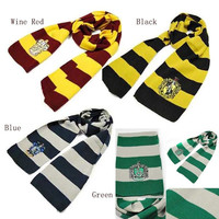 Gryffindor Slytherin Ravenclaw Hufflepuff House Harry Potter Scarf Shawl Wrap = 1958193092