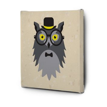 Hipster Animals Pictures Series Canvas Wall Art Decal Painting Prints Decor Owl
