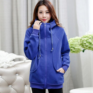 Hoodied Women Coats Pregnant Cardigans Maternity Clothing Female = 1946101892