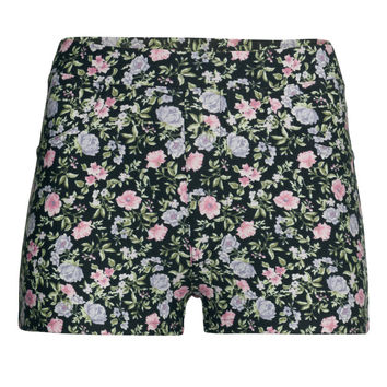 H&M - Patterned Shorts - Black/Floral - Ladies