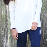 Long Sleeve PIKO - white