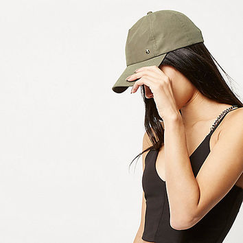 Khaki green cap - hats - accessories - women
