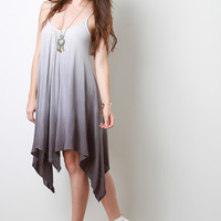 Ombre Sharkbite Sleeveless Dress